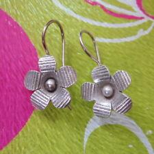 Fine Sterling Silver 925 Earrings Thai Women Jewelry Flower Precious 0202