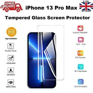 For iPhone 13 PRO MAX Screen Protector Glass Full Coverage Edge-to-Edge 6.7 inch
