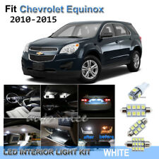 For 2010-2015 Chevrolet Equinox Xenon White LED Interior Lights Kit 8 Pieces