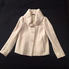 Cappotto Donna Corto Giacca Blazer Coat S Avorio Sisley (stile twin set liu jo)