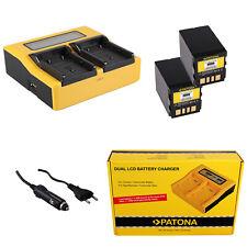 Batteria Patona caricabatteria casa//auto per Jvc GR-D325EG,GR-D340,GR-D340E