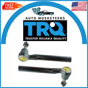 TRQ Front Tie Rod End Outer LH Driver RH Passenger Pair of 2 for Hummer H3 H3T