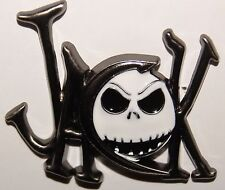 Disney NIGHTMARE JACK SKELLINGTON NAME LETTERS & FACE  NBC Villain Pin