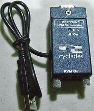 Cyclades AlterPath KVM Terminator 106 N11803 USB VGA RJ45 switch module cable