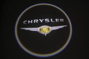 Chrysler Door Logo 3D LED Logo Courtesy Lights Door Lighting Laser E.g. 300 C