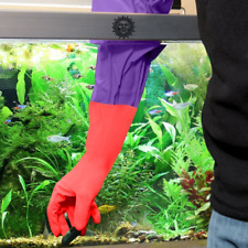 """2 Aquarium Water Change Gloves by SunGrow (18"""") - Keep hands & arms dry"""