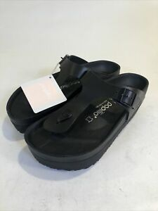 BIRKENSTOCK PAPILLIO women sandals Premium Gizeh black leather EXQUISITE sz 6 37