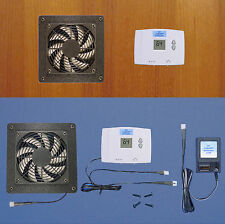Mega-fan Cabinet/Desk cooling fan w/Digital Therm & multi-speed fan/Home Theater