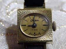 VINTAGE Ladies Gold Plated GERMAN GUB  GLASHUTTE 17 R Hand Wind Mechanical Watch