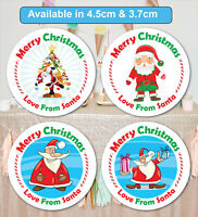 Merry Christmas Stickers Label Santa present Personalised MATT /& GLOSS Q24 /& 35