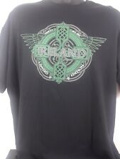 Traditional Craft Black T-Shirt  Ireland (Emerald Isle) Size XL 100% Cotton