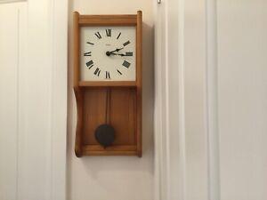 Pine wall pendulum clock