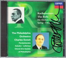Charles DUTOIT Signiert RACHMANINOV The Bells Spring 3 Songs CD Sergei Leiferkus