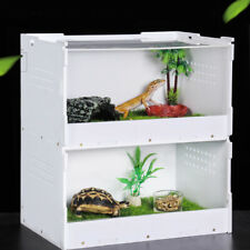 Double-deck Reptile Breeding Box House Cage for Lizard Geckos Frog Turtle