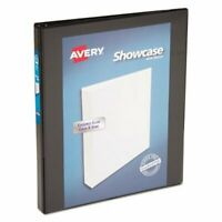 """Avery Showcase Reference View Binder, 1/2"""" Capacity, Black (AVE19550)"""