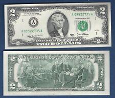 Etats Unis 2 Dollars 2003 Séries A Neuf UNC Thomas Jefferson United States