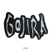 GOJIRA Rock Music Band Logo Embroidered Patch Iron on Sew On Badge For Clothes