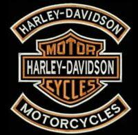 HARLEY DAVIDSON 30CM FULL EMBROIDERED SET IRON ON STAR BRAND