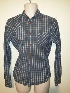 Mens BEN SHERMAN PLECTRUM Blue Check Shirt - Small