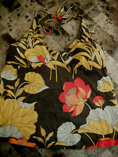 ladies OLD NAVY MATERNITY TANKINI TOP swimsuit BROWN flowers HALTER small 4 6