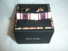 PAUL SMITH  100% authentic Cufflinks Multi-color Stripe NIB
