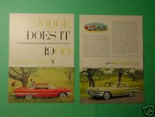 November 1959 Reader's Digest  2-page ad for 1960 Dodge