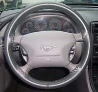 Leather Steering Wheel Cover - Ford - All Models - Custom Wheelskins WS1FD