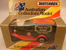 1981 MATCHBOX SUPERFAST AUSTRALIAN COLLECTORS MB38 JOHN WEST FORD MODEL A MIB