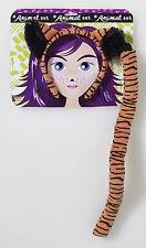 Kids Tiger Ears and Tail Combo Set Zoo Animal Jungle Big Cat Safari