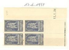 TIMBRES FRANCE BLOC DE 4 COINS DATE YVERT N° 399 CATHEDRALE DE REIMS