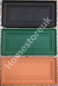 PLASTIC BASE DRIP TRAY RECTANGULAR WINDOW BOX PLANT PLANTER POT SAUCER GARDEN