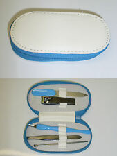 set de manucure blanc/bleu