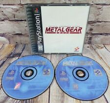 Metal Gear Solid Sony Playstation 1, 1998 Black Label PS1 RARE NO MANUAL
