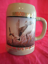 BUDWEISER WISCONSIN THIS BUD'S FOR YOU WITH DUCK 1990 STEIN NUMBERED UNDER 1000!