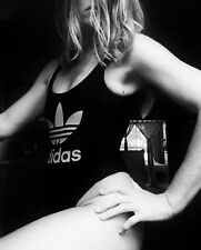 Adidas logo black one piece swimmer xs brand new Tank