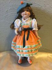 Gretel Porcelain 13 Inch Doll Franklin Heirloom Dolls Mint!