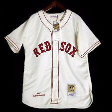 100% Authentic Carl Yastrzemski Red Sox Mitchell Ness MLB Jersey Size 48 XL
