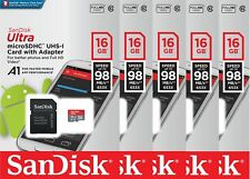 5x SanDisk 16GB Ultra Micro SD SDHC C10 98MB/s MicroSD Memory Card For Android