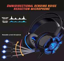 3.5mm K15 Gaming Headset MIC LED Headphones for PC Laptop PS4 PS5 Pro Xbox One S