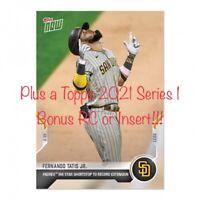 2021 Topps Now Fernando Tatis Jr. Padres Extension SP 2941 Plus bonus card! Read