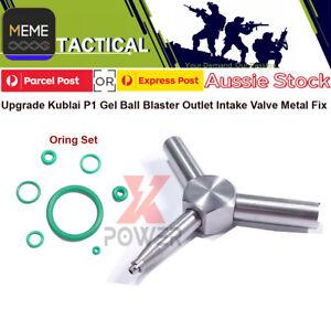 Upgrade Kublai P1 Gel Blaster Outlet Intake Valve Metal Fix Key tool Orings AU