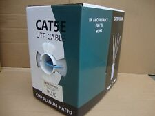 BULK 1000 FT CAT 5E CABLE SOLID UTP PLENUM BLUE CC-CT5-BL - Efficient Cables
