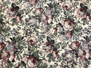 5th Ave Designs 10+ Yards Rose Floral Screen Print Home Décor Fabric (RF913)