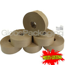 More details for strong brown gummed paper water activated tapes std/reinforced 48mm x 200m/100m