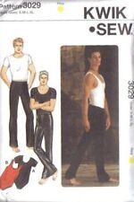 Kwik Sew Sewing Pattern 3029 Mens Dancewear Gymnast Costume Leotards Pants Shirt
