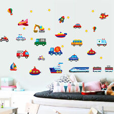 Colorful Car Train Wall Sticker Decal Removable PVC Wall Sticker Home Decor New