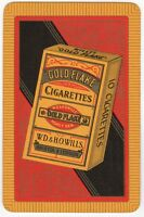 Playing Cards 1 Single Card Old GOLD FLAKE Cigarettes Advertising Art Tobacco 3
