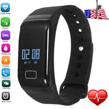 Sports Blood Pressure/Oxygen&Heart Rate Fitness Smart Watch Wrist Band Bracelet~