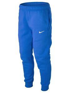 Nike Men's Club Training Fleece Joggers Pants Sweatpants Royal White