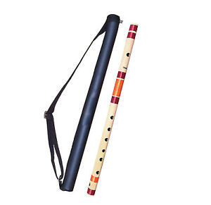 Bamboo Flutes C Natural 7 Hole Bansuri Size 19 inches With Free Carry Bag uk